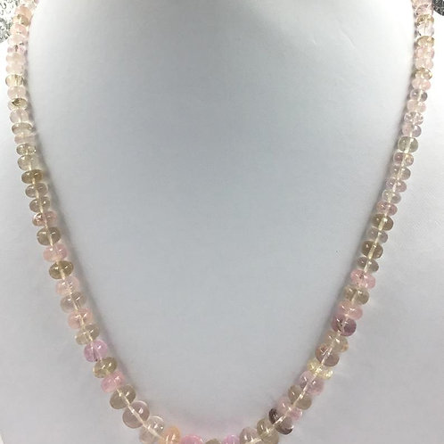 Morganite smooth Beads 1strand 208.55carats 5to12MM gemstone for jewels