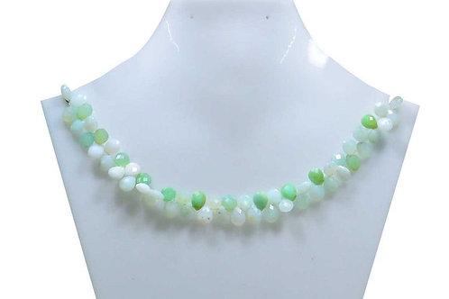 Blue Opal - 8'' Peru Faceted Drops 1 Strand Gemstone Jewelry Beads Handmade