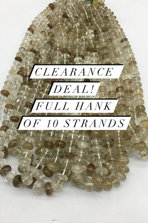 Closeout Sale price Rutile Smooth Beads10 strands full hank wholesale closeout