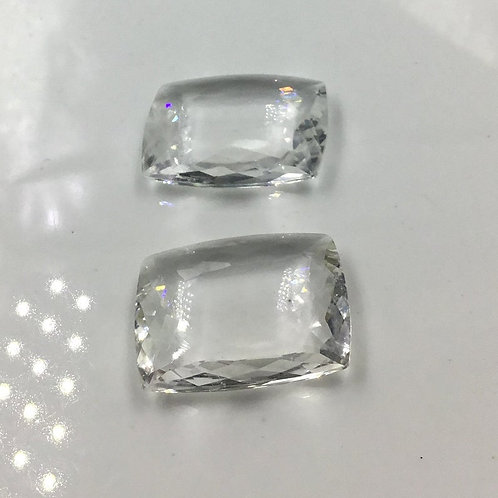 White Crystal Fancy Cut Stone Pair Crystal Gemstone Pair Natural Gems
