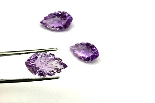 Amethyst Carving Natural Gemstone Top Quality 3 Pieces Jewellery Making Set