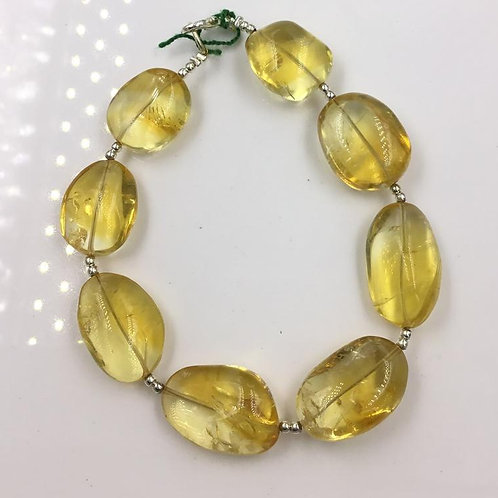 Citrine Smooth Tumble Shape Size 14x22 To 16x25 mm , 200 Cts Average