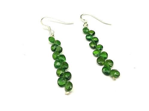 Tourmaline Earrings Heart Green Tourmaline Earring Set Top Color Natural