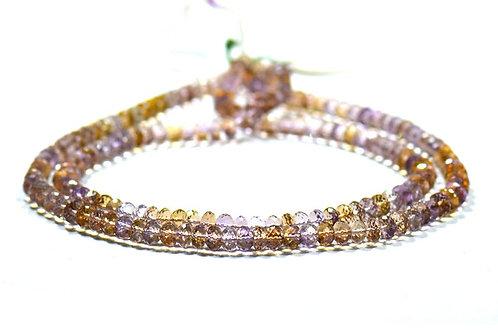 Ametrine Fresh Stock - 16'' Brazil faceted Beads 1 Strand Gemstone