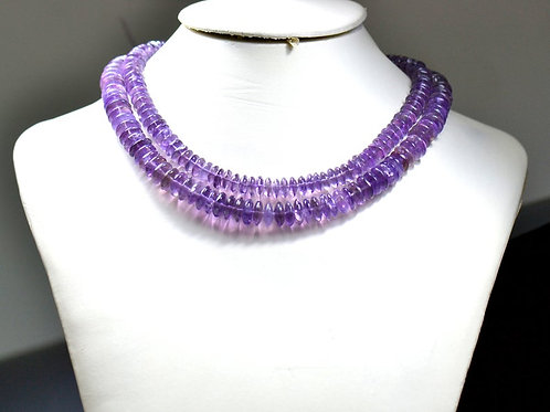 Amethyst - 16'' Brazil Smooth Tyre 1 Strand Gemstone  Jewelry Beads Handmade