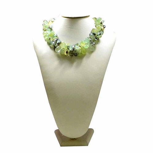 Phrenite - 16'' Africa Smooth Drop 1 Strand Gemstone  Jewelry Beads