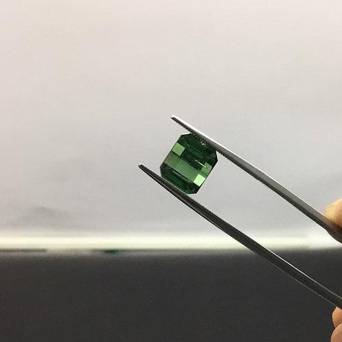 Green tourmaline jewellery Cut stone gemstone natural 4.95 ct 1 piece ring set