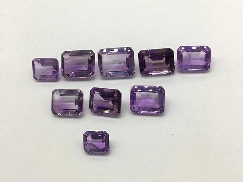 Amethyst Octagon Shape 7 Pieces Loose Natural Handmade Gemstone 75.65 Ct Lot