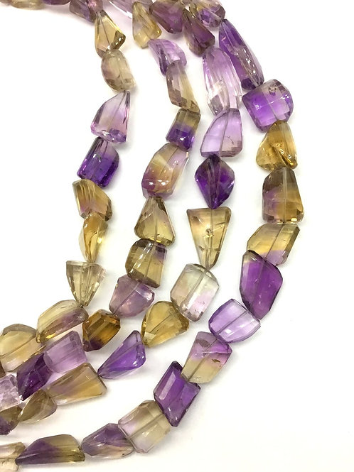 Ametrine 16 '' Faceted Tumble 1 Strand Natural Gemstone 320 Ct