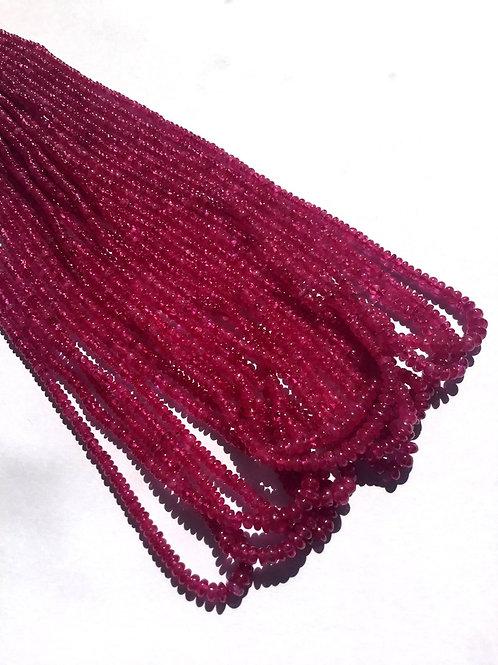 Burmese Ruby Rondelle Beads Natural Burma Ruby Gemstone