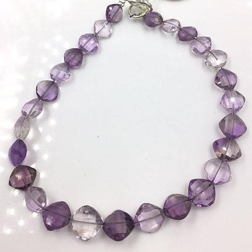 Pink Amethyst Faceted Fancy Cushion cut Gemstone Jewelry
