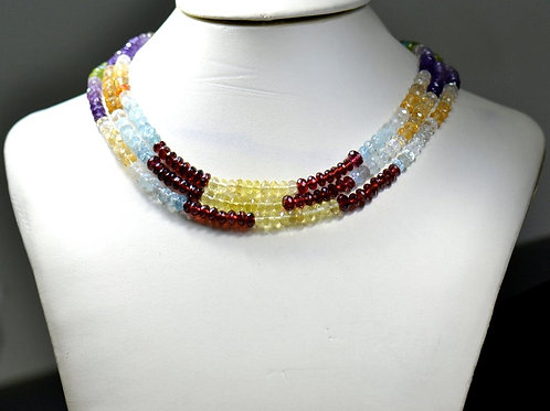 Multiple Mixed Gems Mix ! SALE ! - 16'' Faceted Beads 1 Strand Gemstone