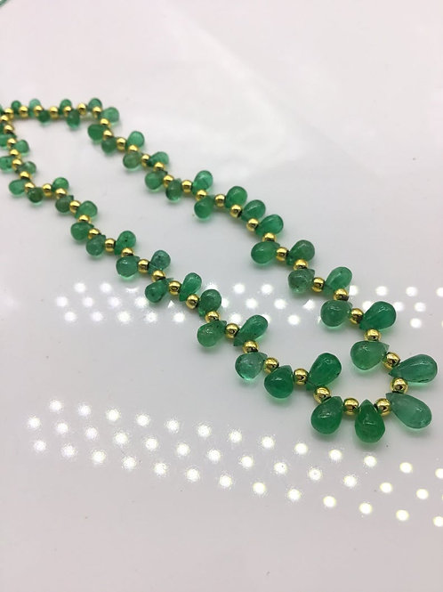 Natural Emerald Drops / Teardrops Zambian Emerald Gemstone 4x3 to 7x4 mm 11 cts