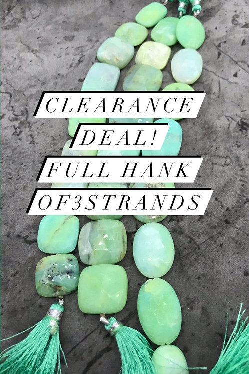 Closeout Sale Blue Opal Faceted Fancy Big Size 3 strands full hank wholesale