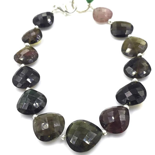 Tourmaline Pear Beads Faceted Multi Tourmaline Colours 43.20 carats