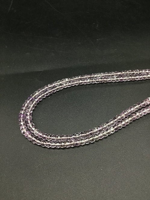 Pink Amethyst Faceted Beads Natural Gemstone Necklace 1 Strand Faceted Beads