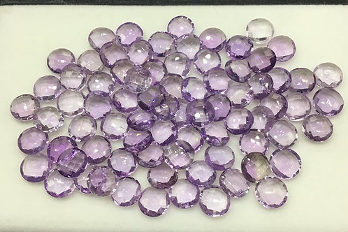 Amethyst cut Both Side Checker Faceted Natural Gemstone Jewellery Making