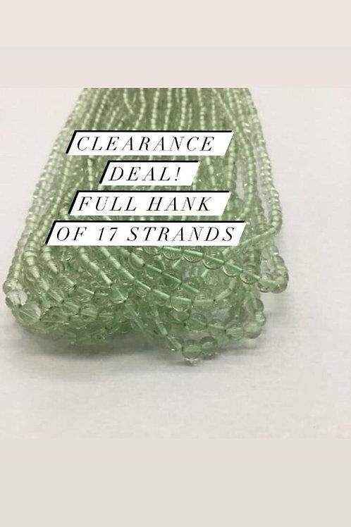 Closeout Sale price Green AmethystPlain Balls 17 strands full hank wholesale