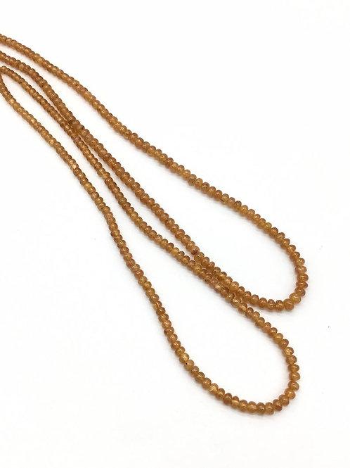 Spessartine garnet plain beads 1strand 87carats size-3to5mm