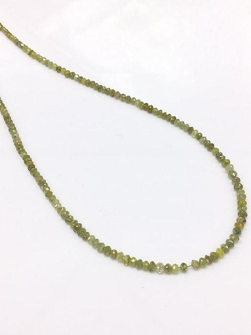 Yellow Uncut Diamond Beads 16 Inches 1 Strands