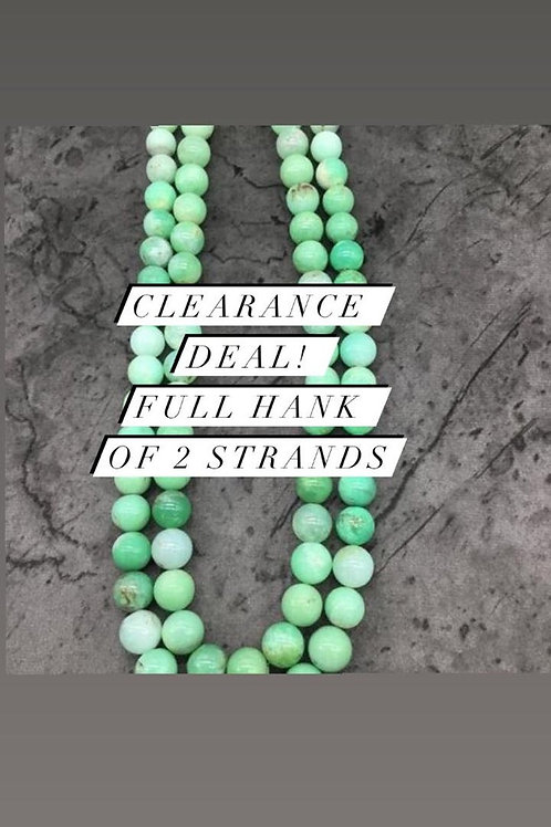 Closeout Sale price Chrysoprase Plain Balls Beads 2 strands full hank wholesale