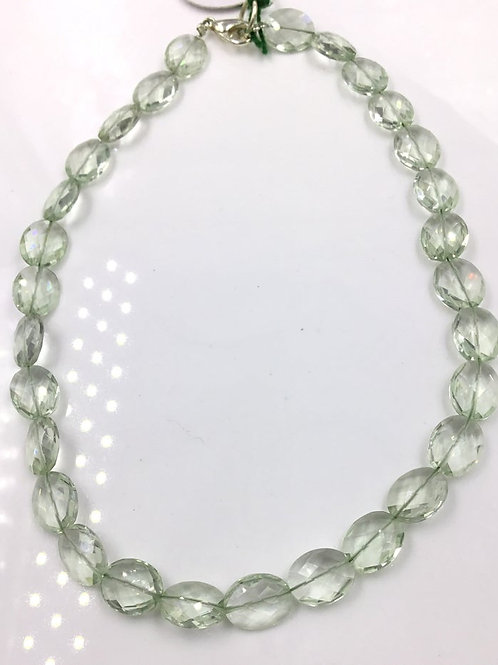 Green Amethyst Faceted oval Beads Fancy 53.10 Cts, Size = 8 TO 10 MM 29 Pieces