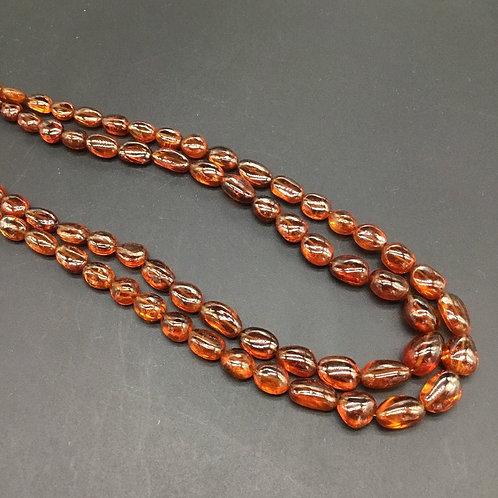Fanta garnet Spessartite ovals uneven tumbles natural gemstone necklace 1strand