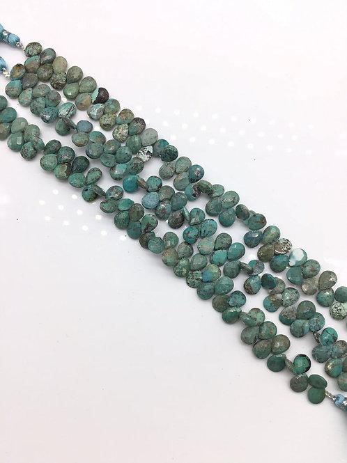 Natural Arizona Turquoise Gems Pear 9x7 mm 1 strand Turquoise Gemstone 70 Cts