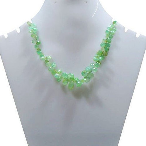 Emerald 8'' - Colombian Faceted Pear Gemstone 1 Strand  Jewelry Bead