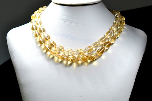 Citrine Beautiful !! Stone !! - 16'' Brazil Faceted Drops 1 Strand Gemstone