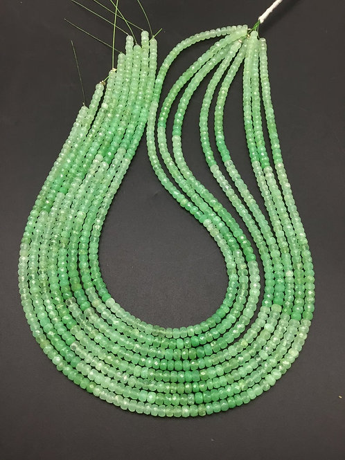 Chrysoprase Beads Natural Faceted gemstone Necklace 1 Strand Faceted Beads