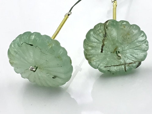 Emerald Carved Watermelon Loose Natural Gemstone Size 19 To 20 MM 32.10 Carats
