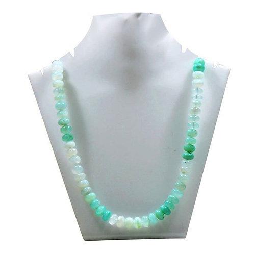 peru Natural - 16 '' Blue Opal Peru Smooth Beads 1 Strand  Handmade Natural