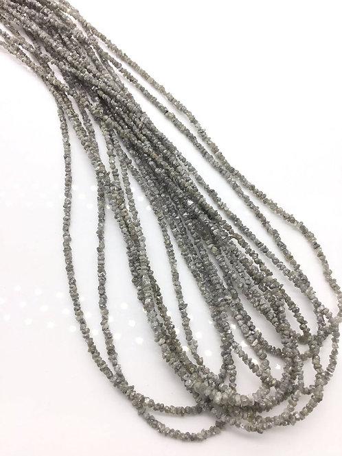 Grey Diamond uncut beads 1strand