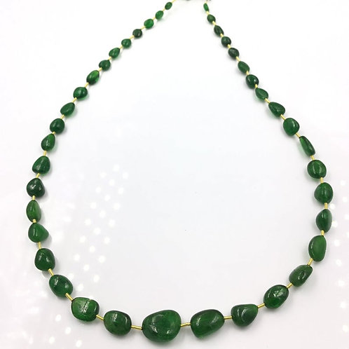 Tsavorite Ovals Tumbles Beads 1strand 86 carats size- 4x4 to 10x13 MM 40 Pieces