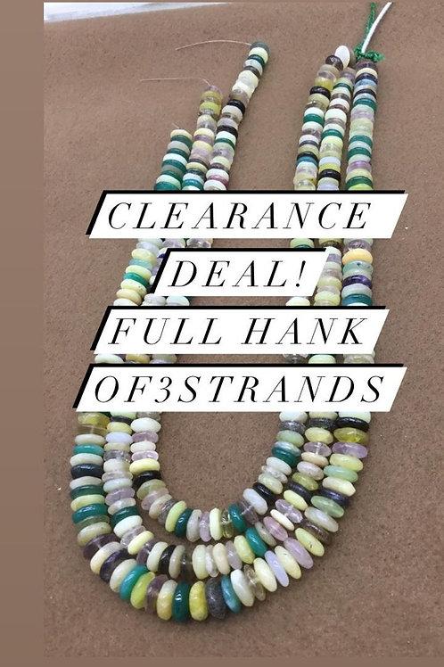 Closeout Sale price Semi multi PlainTyre 3 strands full hank wholesale closeout