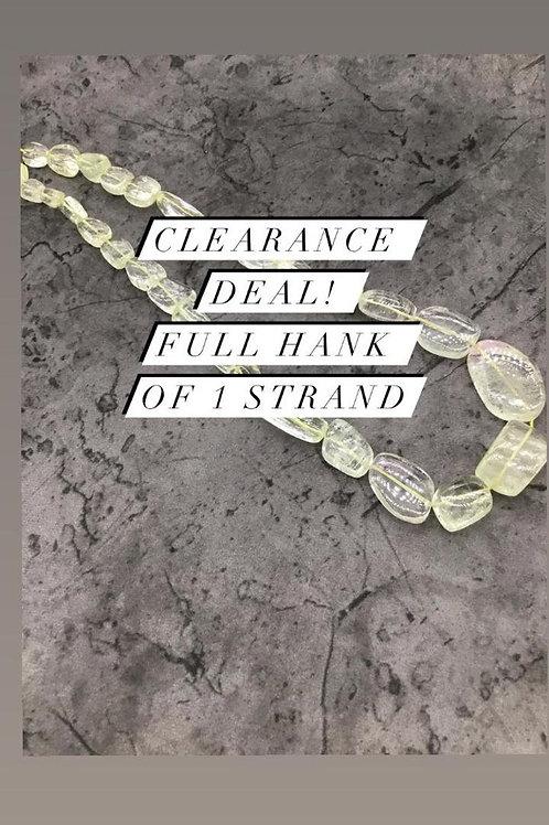 Closeout Sale price Kunzite Plain Tumble 1 strands full hank wholesale closeout