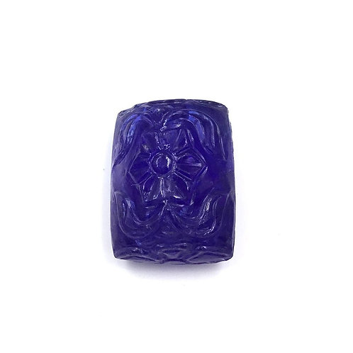 Natural Tanzanite Fancy Cushion Carving Cabochon Loose Gemstone