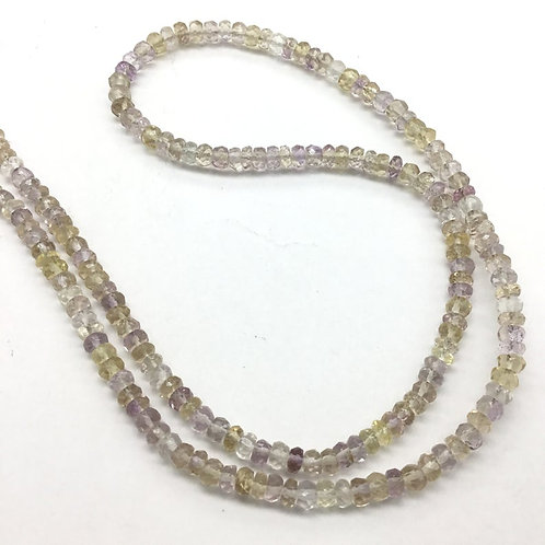Ametrine Faceted Beads 1 strand 75carats size- 4MM