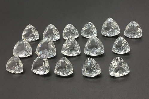 White Crystal Trillion Cut Shape 25 Pieces Loose Gemstone Natural Handmade Lot