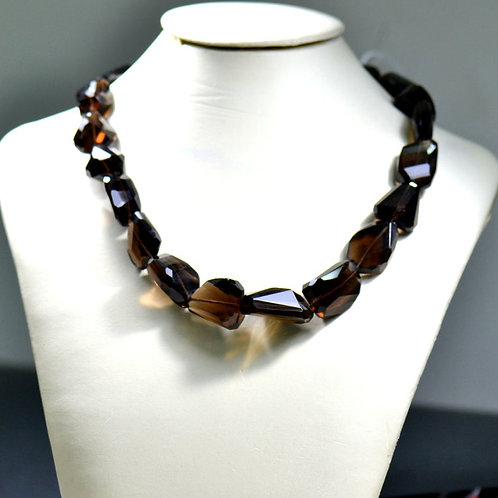 Smoky 16'' - Faceted Tumble 1 Strand Gemstone  Jewelry Beads Handmade Natural