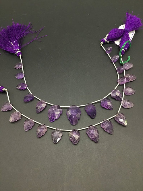 Pink Amethyst 8 '' Fancy Carving Leaf natural Gemstone 52.00 Ct Gemstone