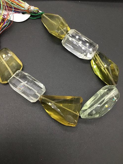 Semi Multi 8 '' Precious Gemstone Faceted Tumble Big Size 297.60 Ct