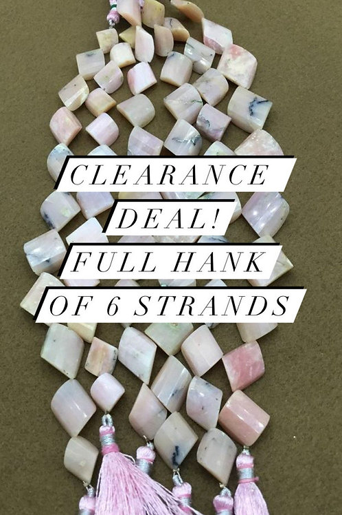 Closeout Sale price Pink Opal Fancy 6 strands full hank wholesale closeout deal