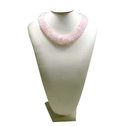 Rose Quartz - 16'' Africa Faceted Beads 1 Strand Gemstone Jewelry Beads Natural