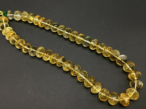 Citrine 8 '' Faceted Beads Top Quality AAA + 100 % Natural 258.60 Ct Gemstone