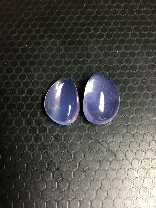 Lavender Quartz Plain Tumble Pinkish-Purple Gemstone Top Quality