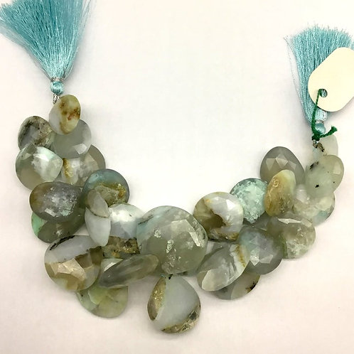 Peru Opal 8 '' Faceted Pear Shape 1 Strand Natural Gemstone Bead Necklace