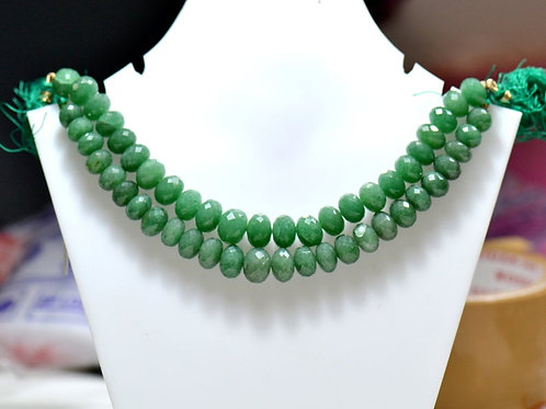 Green Quartz SALE !!! - 8'' Africa Faceted Beads 1 Strand Gemstone  Jewelry
