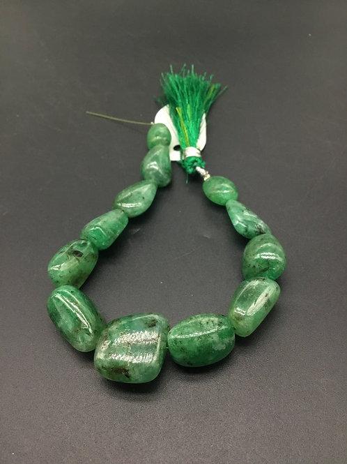 Emerald Tumble Gemstone necklace 8'' Jewellery Making Emerald Tumble Set
